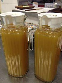 リンゴ20個で約2リットルのジュースができました!