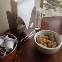 朝食の落花生