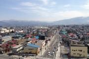 屋上から見た喜多方の町並みです